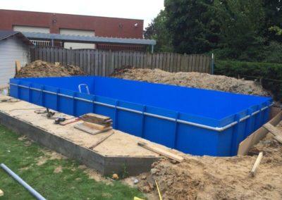 PE blauw zwembad