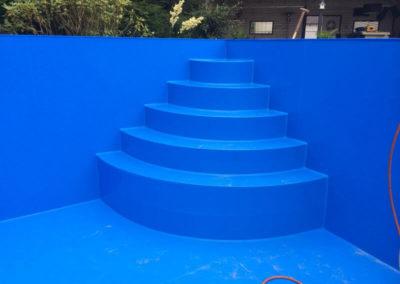 PE blauw zwembadtrap